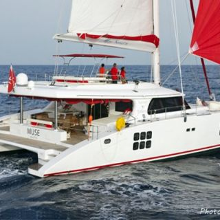 An experienced crew is what's required on the big cat Sunreef 70