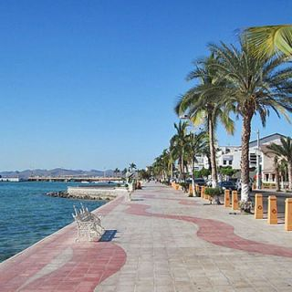 The malecon at La Paz