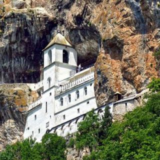 Monastry in the cliff, Montenegro