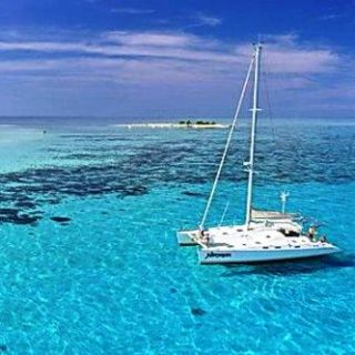 At anchor on New Caledonia's barrier reef