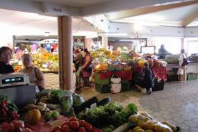 Fresh Noumea produce in the daily market