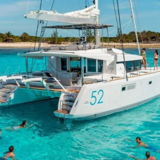 Holiday fun on a chartered Lagoon 52