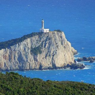 Lefkas cliffs & lighthouse