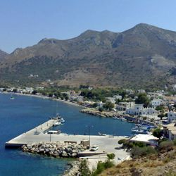 Livadhia village and anchorage, Tilos