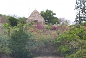 Native hut overlooking Baie de la Tortue