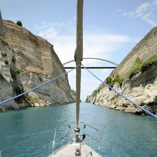 Sailing through the Corinth Canal