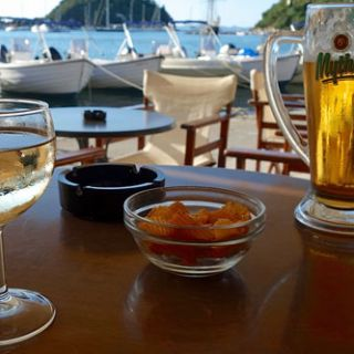 At the taverna, Paxos