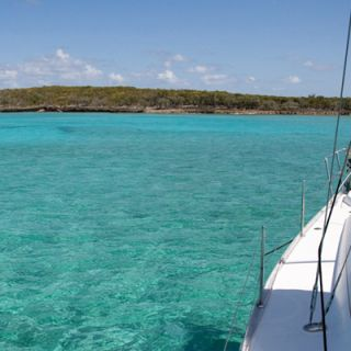 Approaching Great Abacos, Bahamas