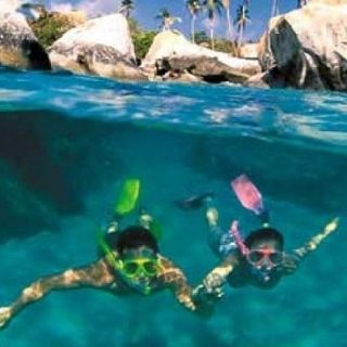 Snorkelling fun in the BVIs