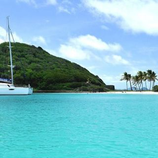 Charter cat at the Grenadines