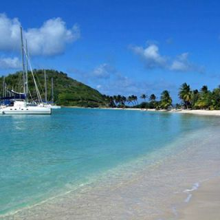 A typlically Caribbean anchorage