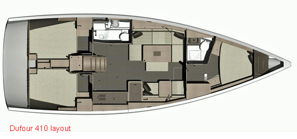 Dufour 410 Layout