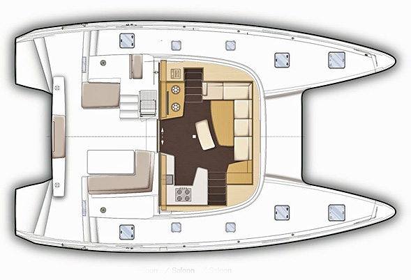 Lagoon 42 Deck Layout