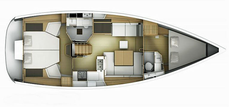 Sun Odyssey 41DS Layout