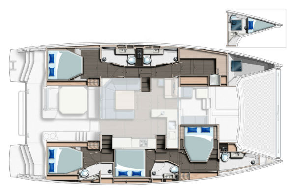 Leopard 50 - 4 Cabin Owners Version Layout