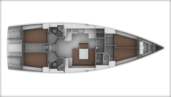 Bavaria 45 - 4 Cabin Layout