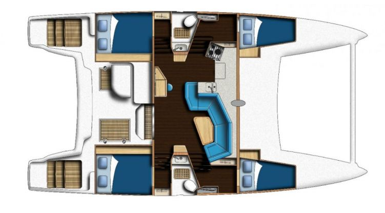 Catana 42 - 4 Cabin Layout