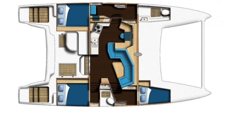 Catana 42 - 3 Cabin Layout