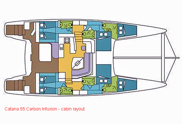 Catana 55i Layout