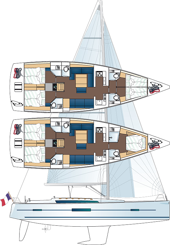 Dufour 500 Layout