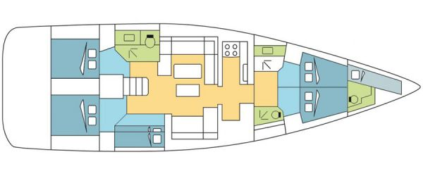 Dufour 560 layout