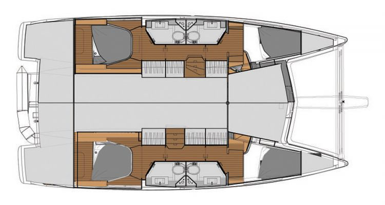Lucia 40 - 4 Cabin Layout