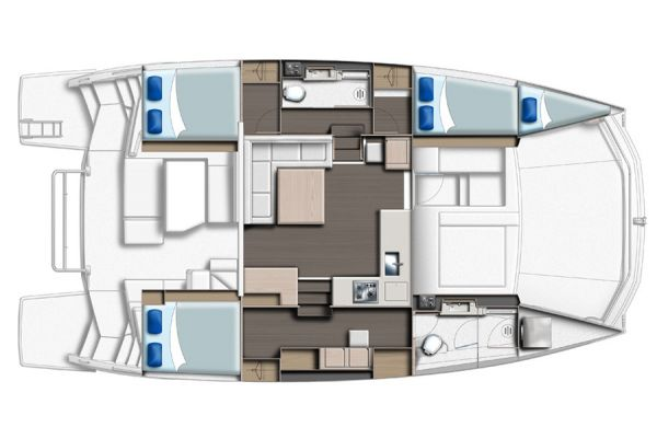 Leopard 43PC 3 cabins +