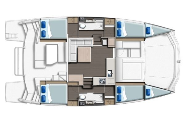 Leopard 43PC 4 cabins +