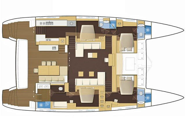 Lady Rachel guest cabin layout