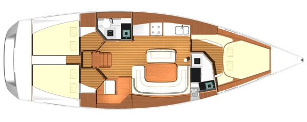 Dufour 425 Layout