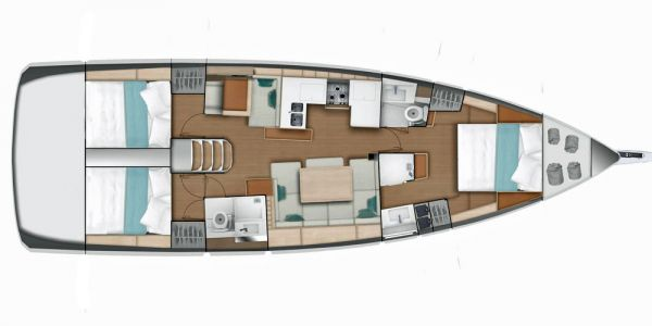 Sun Odyssey 4 double + layout