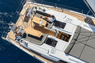 Hanse 508 Aft from Above