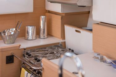 Jeanneau 58 galley
