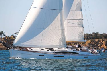 Jeanneau 58 under sail