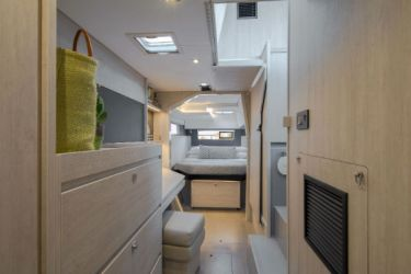 Leopard 40 Owners Cabin Long view