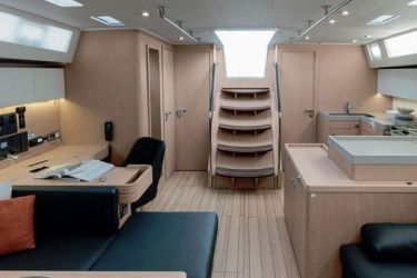 Oceanis 51.1 saloon looking aft