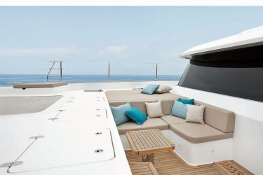 Sunreef 60 Sinata foredeck lounging