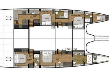 Sunreef 74 Mersea layout
